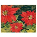 LANG® Boxed Christmas Cards With Envelopes, Poinsettia