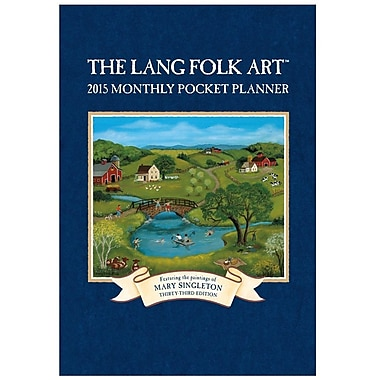 LANG® Lang Folk Art 2015 Monthly Pocket Planner