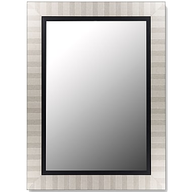 Hitchcock Butterfield Company Parma Silver and Satin Black Wall Mirror; 68'' H x 32'' W