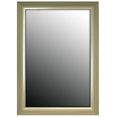 Second Look Mirrors Stepped Vintage Silver Petite Wall Mirror; 37'' H x 27'' W