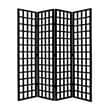 Screen Gems 96'' X 80'' Dakota 4 Panel Room Divider; Black