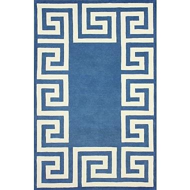 nuLOOM Filigree Blue/White Santorini Area Rug; 7'6'' x 9'6''