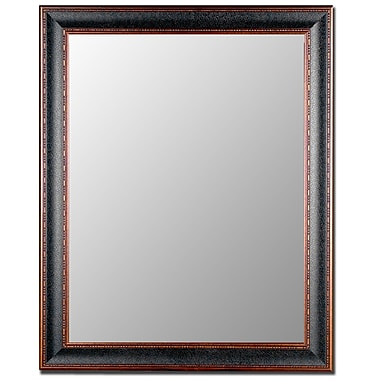 Hitchcock Butterfield Company Textured Black & Copper Wall Mirror; 40'' H x 30'' W
