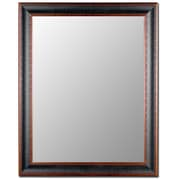 Hitchcock Butterfield Company Textured Black & Copper Framed Wall Mirror; 30'' W x 40'' H
