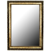 Hitchcock Butterfield Company Roman Beaded Silver Gold Wall Mirror; 43'' H x 31'' W