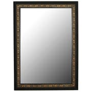 Second Look Mirrors Mumbai Copper Gold Black Surround Framed Wall Mirror; 66'' H x 30'' W
