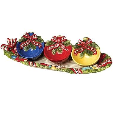 Kaldun & Bogle Christmas Gifts Pine Tray w/ 3 Bowl