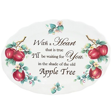 Kaldun & Bogle Apple Sentiments 18.5'' Oval Platter