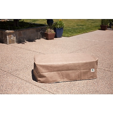 Duck Covers Elite Patio Ottoman/Side Table Cover; 18'' H x 36'' W x 40'' D