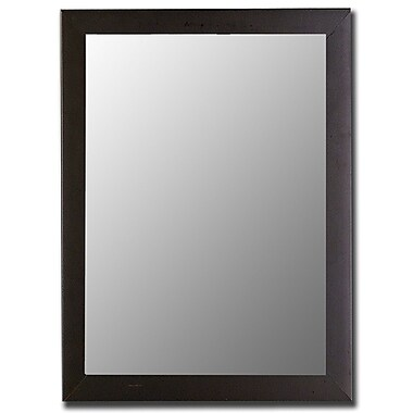 Hitchcock Butterfield Company Modern Satin Black Wall Mirror; 23'' H x 59'' W