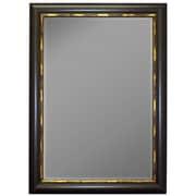 Second Look Mirrors Panda Mahogany Gold Bamboo Trim Framed Wall Mirror; 46'' H x 36'' W