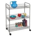 Richards Homewares Utility Cart; Satin Nickel/Silver