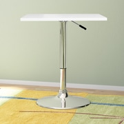 CorLiving Adjustable Pub Table; White