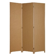 Screen Gems 72'' X 54'' Pensacola 3 Panel Room Divider; Light Brown