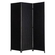 Screen Gems 72'' X 54'' Pensacola 3 Panel Room Divider; Black