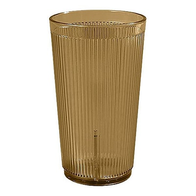 Carlisle 12 oz Crystalon Stack-All SAN Tumbler, Amber 450687