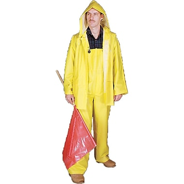Mutual Industries Yellow 0.35mm PVC/Polyester 3 Piece Rainsuits