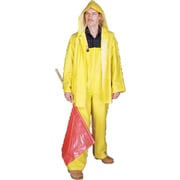 Mutual Industries 0.35mm PVC/Polyester 3 Piece Rainsuit, Yellow, Small