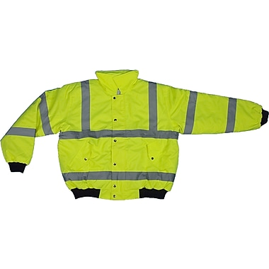 Mutual Industries MiViz Lime ANSI Class 3 Bomber Jackets