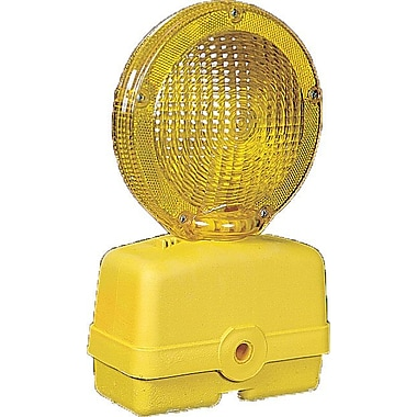 Mutual Industries Barricade Flasher Light, Yellow