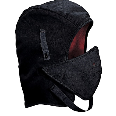 Mutual Industries Kromer Long Nape Twill Winter Liner With Mouthpiece, Black, One Size