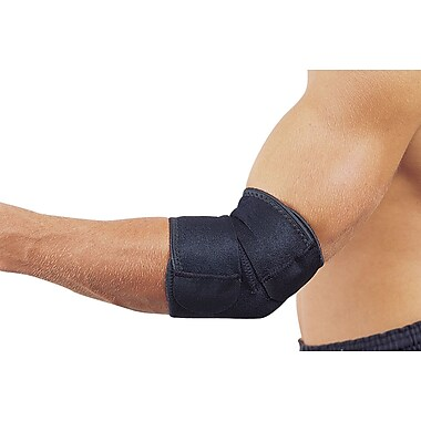 Mutual Industries Adjustable Neoprene Elbow Support, Black, One Size