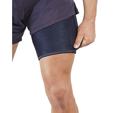 Mutual Industries Adjustable Neoprene Thigh Support, Black, One Size