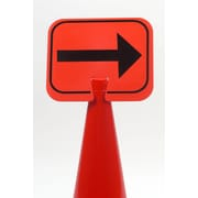 "Mutual Industries ""RIGHT ARROW"" Traffic Cone Sign, 11"" x 13"""