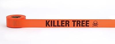 Mutual Industries Killer Tree Printed Flagging Tape 1 1 2 x 50 yds. Glo Orange