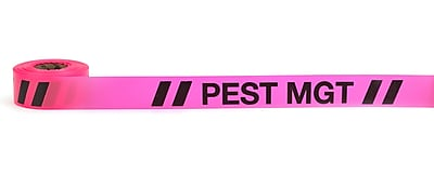 Mutual Industries Pest Management Printed Flagging Tape 1 1 2 x 50 yds. Glo Pink