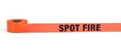 Mutual Industries Spot Fire Printed Flagging Tape 1 1 2 x 50 yds. Glo Pink