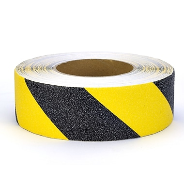 Mutual Industries Non-Skid Hazard Stripe Abrasive Tape, 2