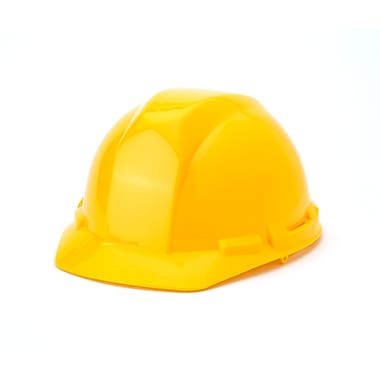 Mutual Industries 6-Point Ratchet Suspension Hard Hat, Yellow