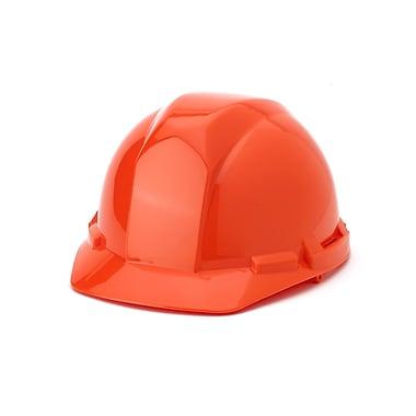 Mutual Industries 4-Point Pin Lock Suspension Hard Hat, Orange