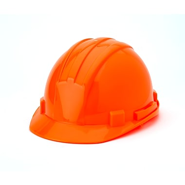 Mutual Industries 6-Point Ratchet Suspension Hard Hat, Hi-Vis Orange