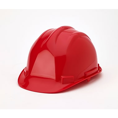 Mutual Industries 6-Point Ratchet Suspension Hard Hat, Red
