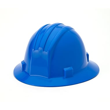 Mutual Industries Full Brim Hard Hat, Blue