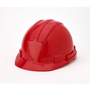 Mutual Industries 4-Point Ratchet Suspension Hard Hat, Red