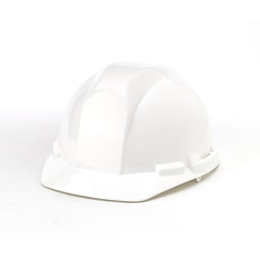 Mutual Industries 4-Point Ratchet Suspension Hard Hat, White