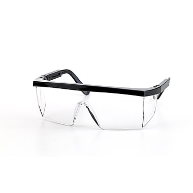 Mutual Industries Marlin Safety Glasses With Black Frame, Clear