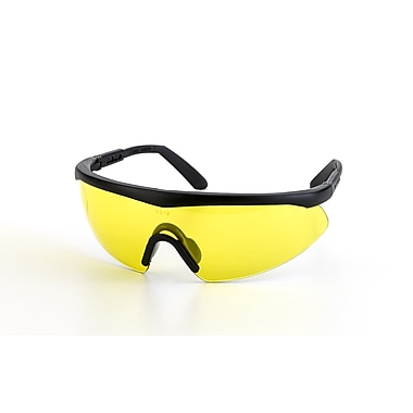 Mutual Industries Shark Safety Glasses With Black Frame, Amber