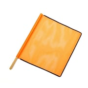 Mutual Industries Heavy-Duty Open Mesh Safety Flag With Black Binding, 24 x 24 x 36, Orange