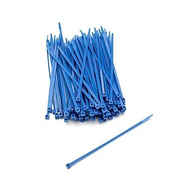 Mutual Industries Nylon Locking Ties, 7', Neon Blue