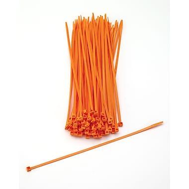 Mutual Industries Nylon Locking Ties, 11', Neon Orange