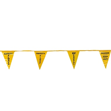 Mutual Industries Pennant Flag With Legend, 60', Yellow