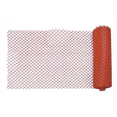 Mutual Industries Heavy-Duty Diamond Link Fence, 4' x 100', Orange
