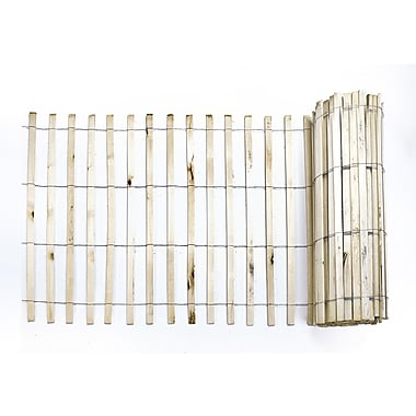 Mutual Industries Wood Snow/Sand Fence, 4' x 50', Natural