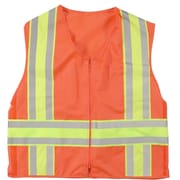 Mutual Industries MiViz ANSI Class 2 High Visibility Solid Deluxe Dot Safety Vest, Orange, 3XL