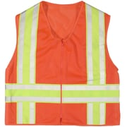 Mutual Industries MiViz ANSI Class 2 High Visibility Deluxe Dot Mesh Safety Vest, Orange, Large