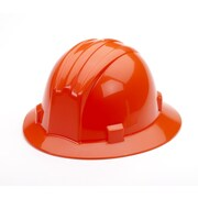 Mutual Industries Full Brim Hard Hat, Orange